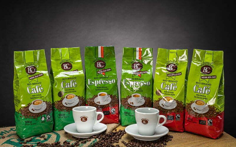 Das Sortiment von Bertschi-Café